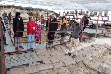 A tour guide, Lefty,  provided more information about the various fossils found at the dig site