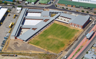 Aerial photo of new Sinenjongo High School.