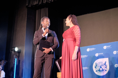 Africa Melane and Denise Newman hosted the Cultural Affairs Awards Ceremony in Cape Town