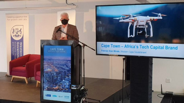 Premier Alan Winde at the launch event for the new brand positioning
