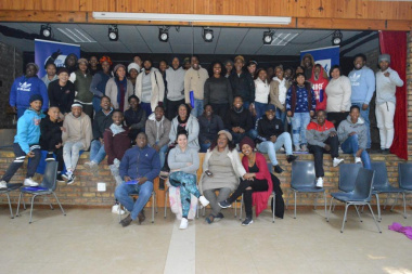 All the scriptwriters who attended the script development initiative