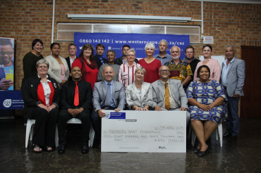 Almost R900 000 was issued to sports federations in the Overberg on Tuesday