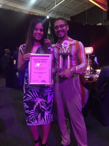 Ammaarah Kamish with the award