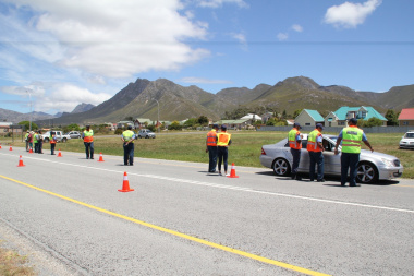 An integrated roadblock activity on the N2 near Hermanus.