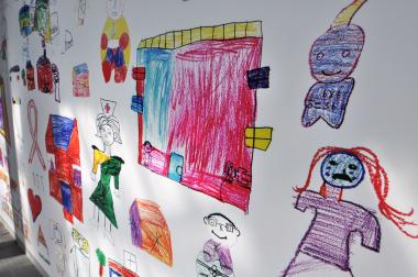 Art work produced by local school children.