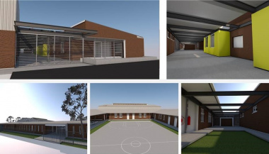 Artist's impressions of the school facilities
