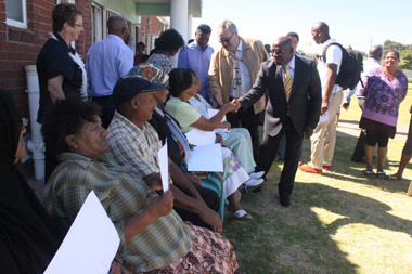 Title Deeds handover by Human Settlements Provincial Minister Bonginkosi Madikizela in Delft.