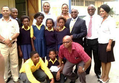 Minister handover shoes and socks to the delight of needy Mbekweni learners