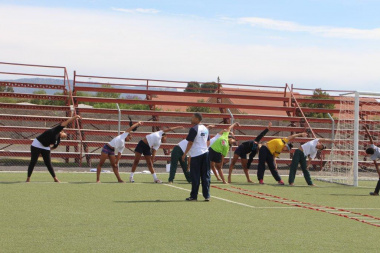 Athletes for the 201516 intake at the Central Karoo District Academy of Sport enthusiastically participate in their generic testing