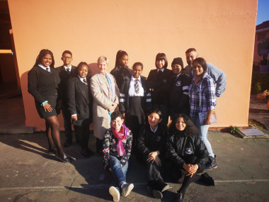 Minister Anroux Marais with the Athlone Young Poets