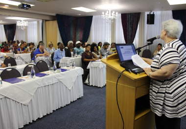 Attendees listened closely as they were being addressed by Chief Director of Cultural Affairs, Hannetjie du Preez