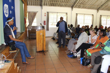 Attendees were given the opportunity to address Minister Marais with problems. She was guided by interpreting services