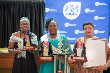 From Left to Right – The winners of the Cecilia Makiwane Nursing Award 2014 are Bukelwa Sibidla  from Michael Mpongwana CHC (Second Runner Up), Judiac Ranape from Lady Michaelis CHC (Winner) and Delena Cloete from Elim Clinic (1st Runner Up)