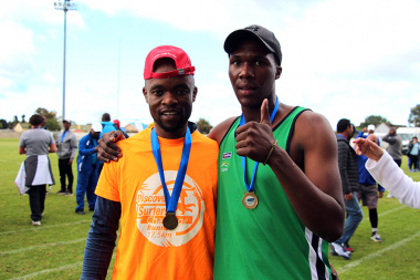 Batanda Adonis (right) finished the 6km first with Luyanda Famela finishing second