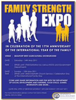 Minister De Lille Launches Three-Day Family Expo in Gugulethu