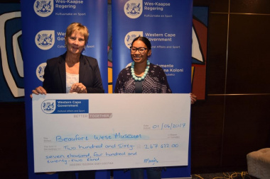 Beaufort West Museum received annual funding from DCAS at the Museum Symposium
