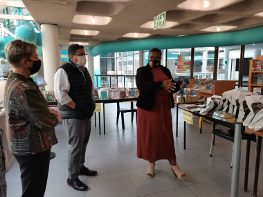 Minister Anroux Marais visited the reopened Bellville Library on Tuesday.