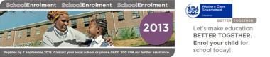WCED Launches Enrolment 2013 Campaign