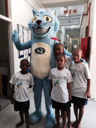 Buddy and the kids from the Ward