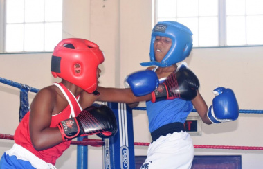 Cadet boxers during the 27 For Freedom Boxing Challenge.