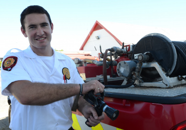 Cadet Firefighter Juandré Viviers value his new job.