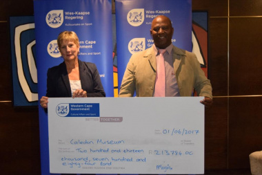Caledon Museum received annual funding from DCAS at the Museum Symposium in Cape Town