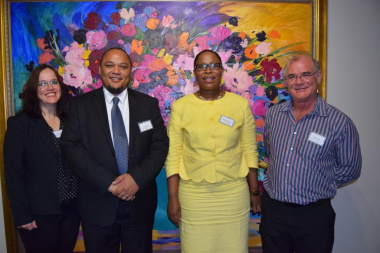 Cecilia Sani, Guy Redman, Nomaza Dingayo and Pieter Hugo set the tone for the official opening of the 2017 WC Library Service Municipal Seminar