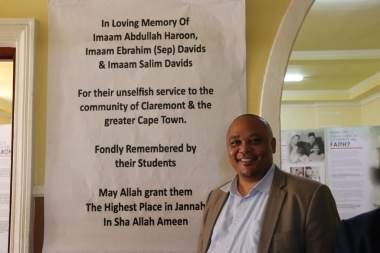 Chief Director for Cultural Affairs Guy Redman introduced Minister Marais at the proceedings in the Masjid in Stegman Avenue, Claremont
