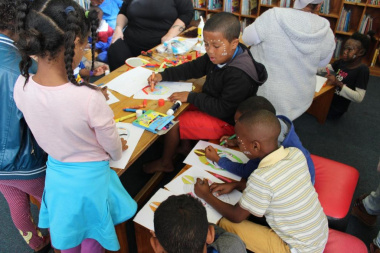 Children could participate in various activities at the libraries