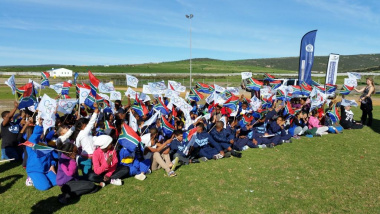 Children getting ready for Olympic Education