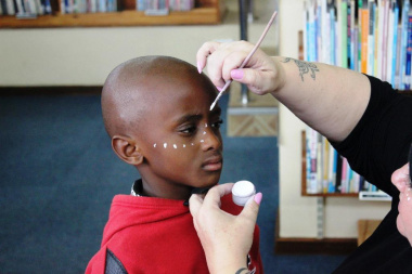 Children had the opportunity to have their face painted.