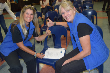 Representatives of WP Womens Golf signing the sport funding memorandum of agreement with DCAS