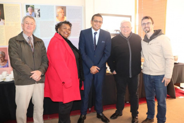 Cllr Kobus du Plessis, Cllr Elizabeth Sedego, Executive Mayor Cllr Benito Klaasen, Chairperson of Board of Trustees, Nick van Huyssteen and Michael Janse van Rensburg at the launch in Tulbagh