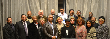 Coaches and staff responsible for the production with Premier Helen Zille