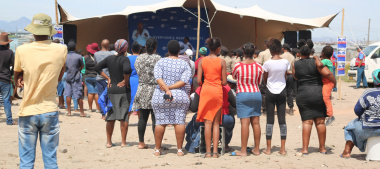 Community members of Marikana informal settlement in Phillipi East attending the 16 Days of Activism campaign launch.