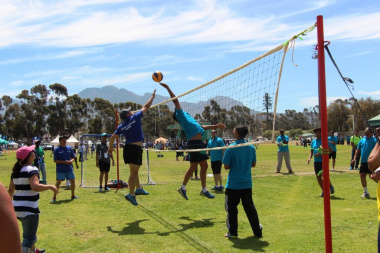 Competition was tough during a volleyball match between WCG Health and Drakenstein municipality