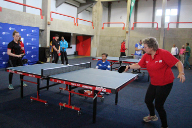 Concentration in a table tennis match between DCAS and George Municipality