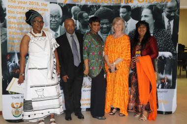 Oral History Conference programme director Nomaza Dingayo (left) with Exco members