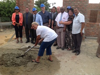 Western Cape Minister of Health, Theuns Botha visits the building site of the new Rawsonville Clinic. Minister Botha met with the contractors and health managers, accompanied by councillors and the media.