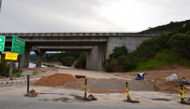Construction on the Glentana road.