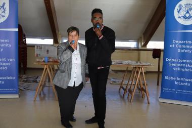Councillors Bernadette Clarke and Elton Jansen