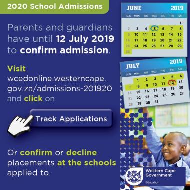 Admissions 2019/20