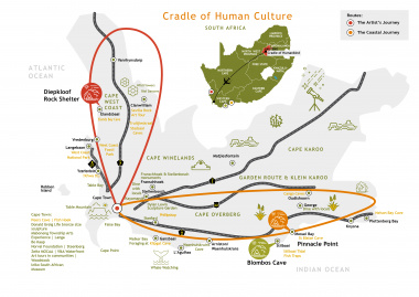 Cradle of Human Culture map