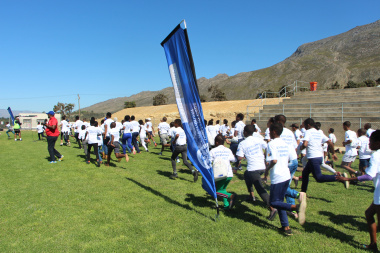 Cross country fun run at the 2019 Olympic Day