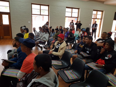 Crystal Secondary School learners