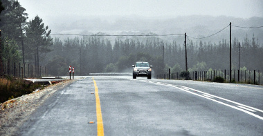 Picture of the recently completed Plettenberg Bay Airport Road.