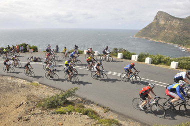 Cycling is allowed on Chapmans Peak Drive.