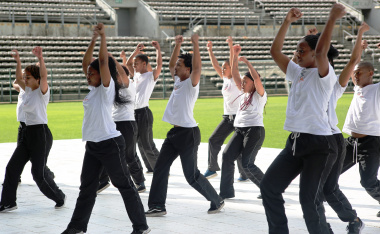 Dancers from the Chrysalis Academy and Jazz Art hyped up the crowd with their entertaining dance piece.