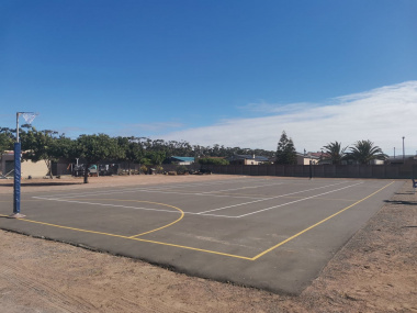 The new netball facility in Darling.