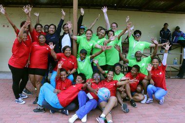 DCAS and co-host, Saldanha Bay Municipality, integrate at the netball court